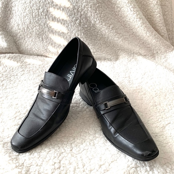 Calvin Klein Black Dress Shoes Loafers
